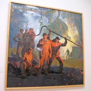 Gemälde in der Nationalgalerie in Tirana – Werk des Realsozialimus