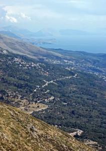 Albanische Riviera – Blick vom Llogara-Pass nach Süden