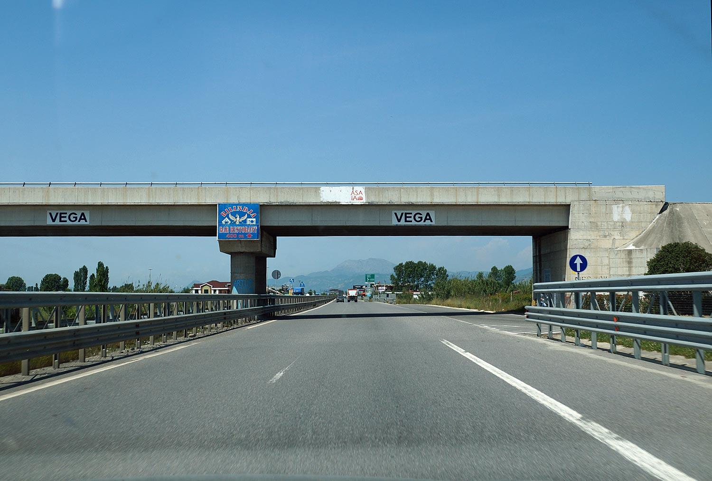 Autobahn in Nordalbanien