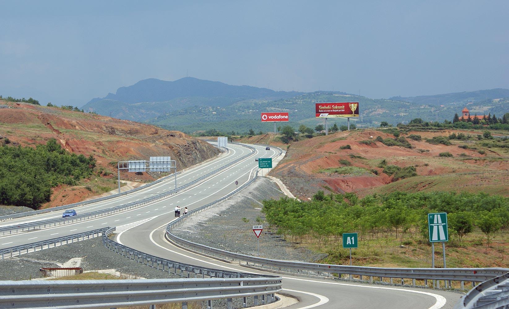 Autobahn bei Rrëshen