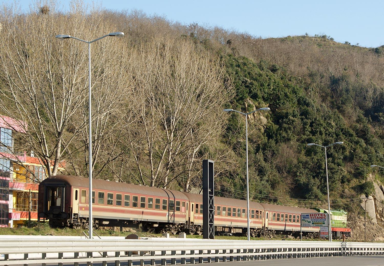Eisenbahn bei Durres