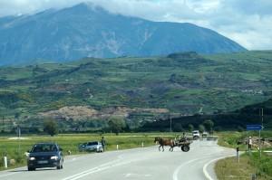 Neue Schnellstrasse in Südalbanien