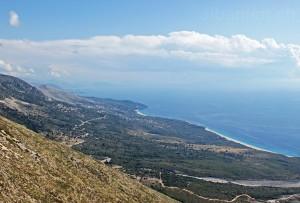 Albanische Riviera vom Llogara-Pass