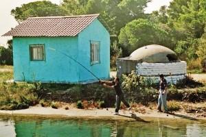 Fischer in der Lagune von Divjaka