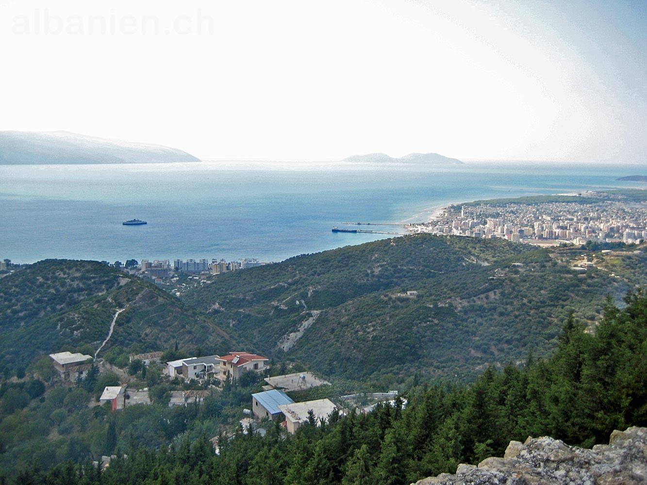 Vlora Bucht und Sazan