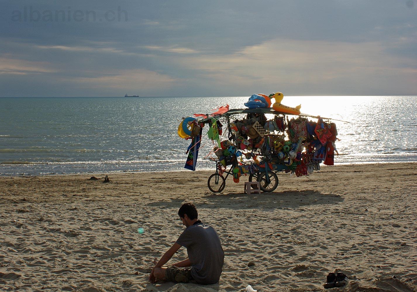 Durrës Strand Verkaufsstand