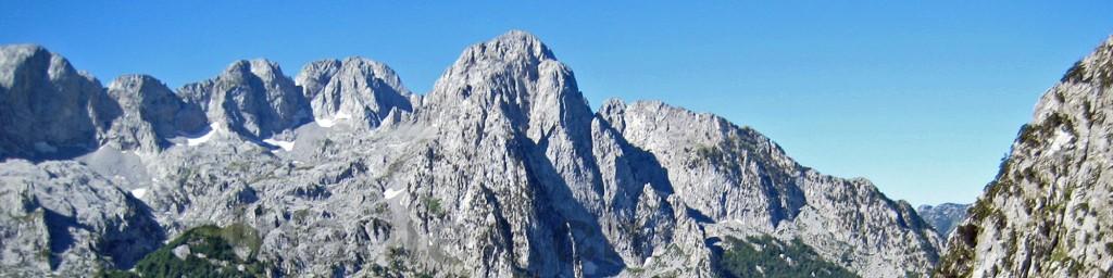 Bergspitzen bei Boga