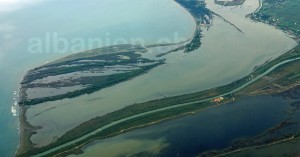 Lagunen von Vain-Kune an der Mündung des Drin