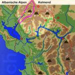 Karte Albaniasche Alpen: Kelmend