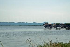Restaurant in der Lagune von Patok