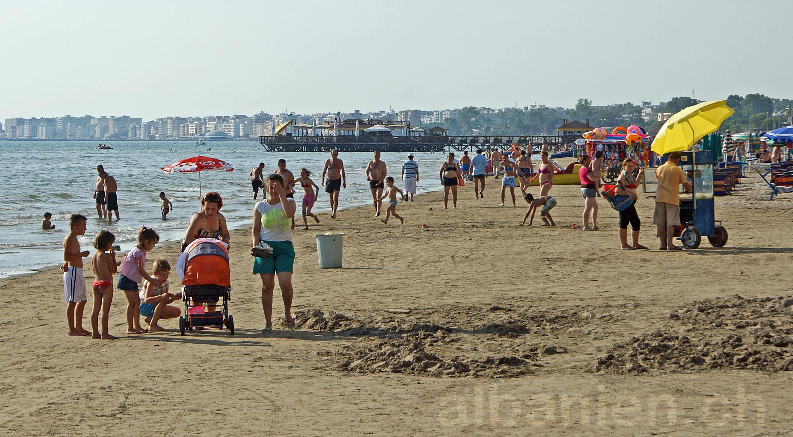 Durrës Plazh Strandleben