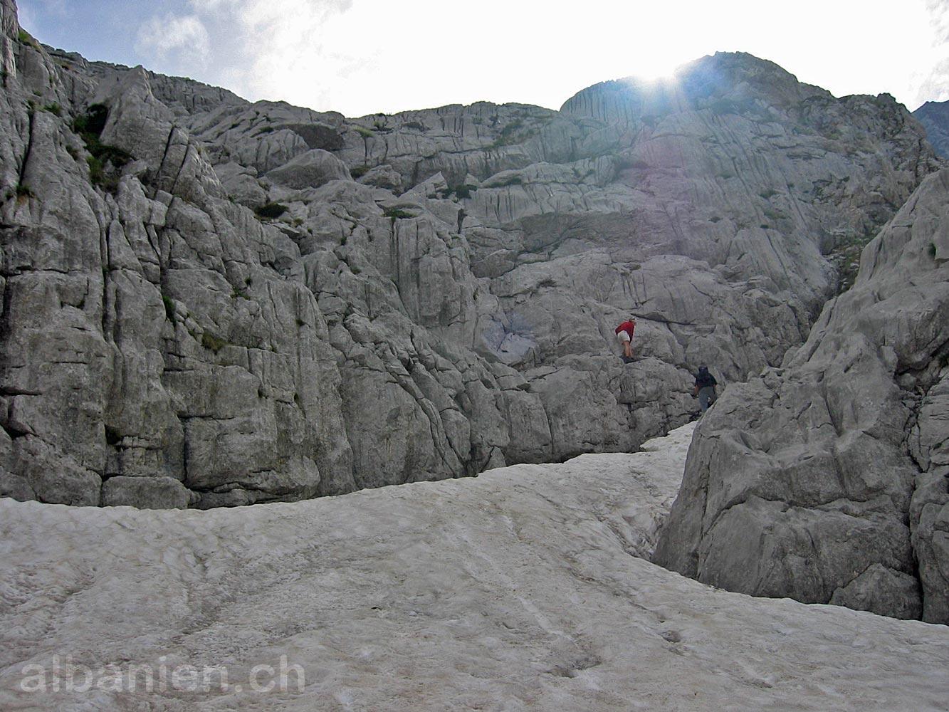 Alpen Schnee Felsen
