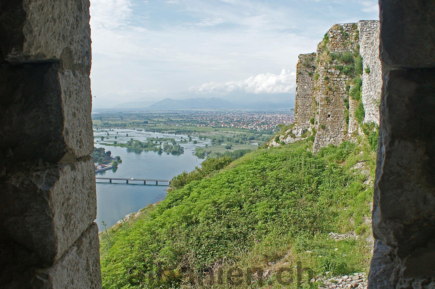 Shkodra Burg Aussicht