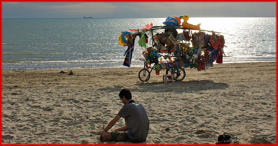 Durrës – Verkäufer am Strand